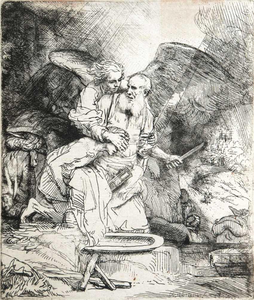 Abrahams Opfer. Rembrandt Harmenszoon van Rijn - photo 1