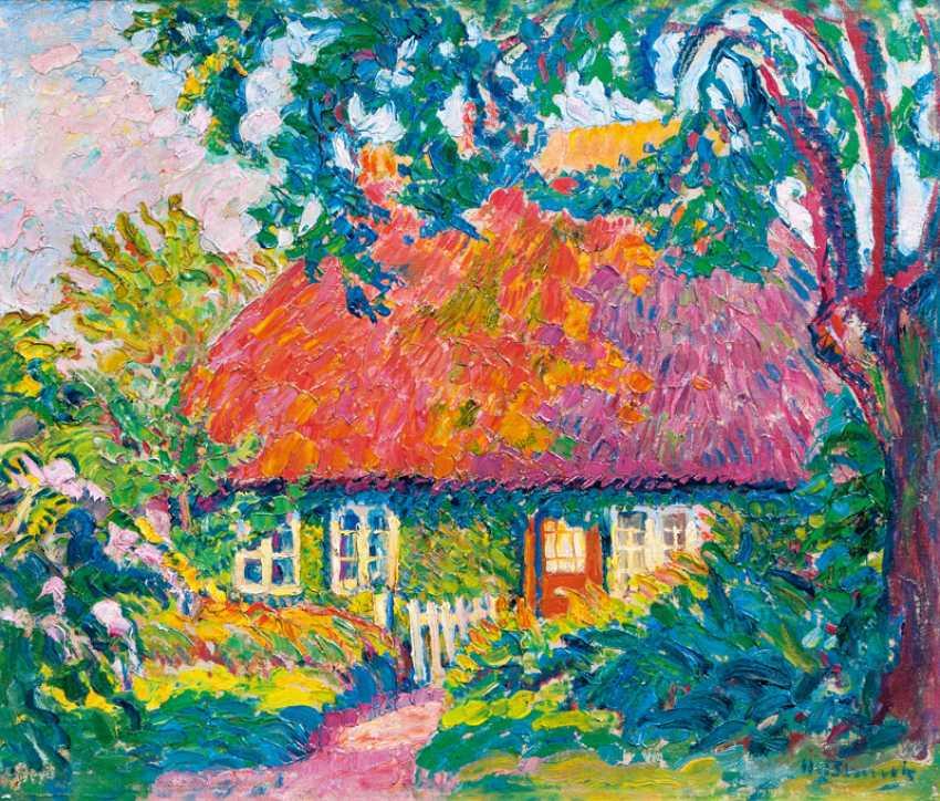 Farmhouse in the sunshine. Heinrich Blunck-Heikendorf - photo 1
