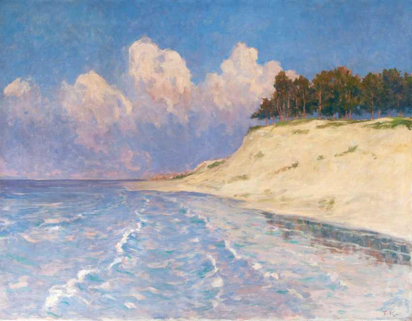 Baltic sea coast at Rosenhagen. Friedrich Kallmorgen - photo 1