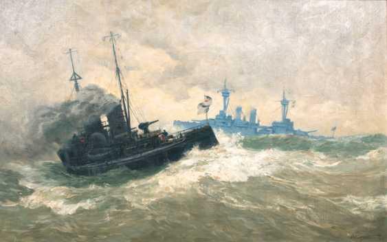A battleship and a gunboat. Carl Saltzmann - photo 1