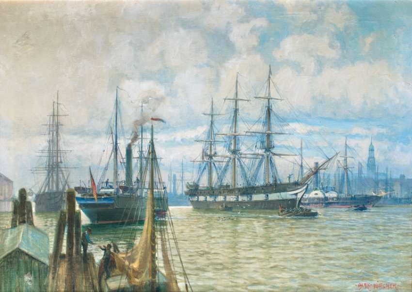 The Empire fleet in the port of Hamburg. Alexander Kircher - photo 1