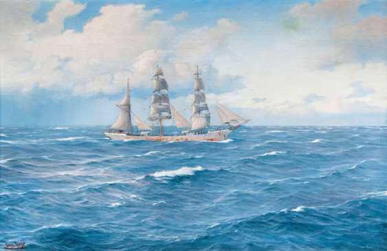 Three-masted barque. Johannes Holst - photo 1