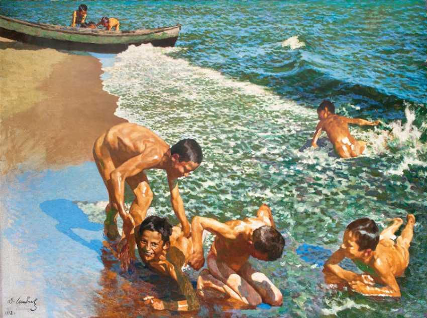 Boys Bathing. Damian Vasilevich Schibnev - photo 1