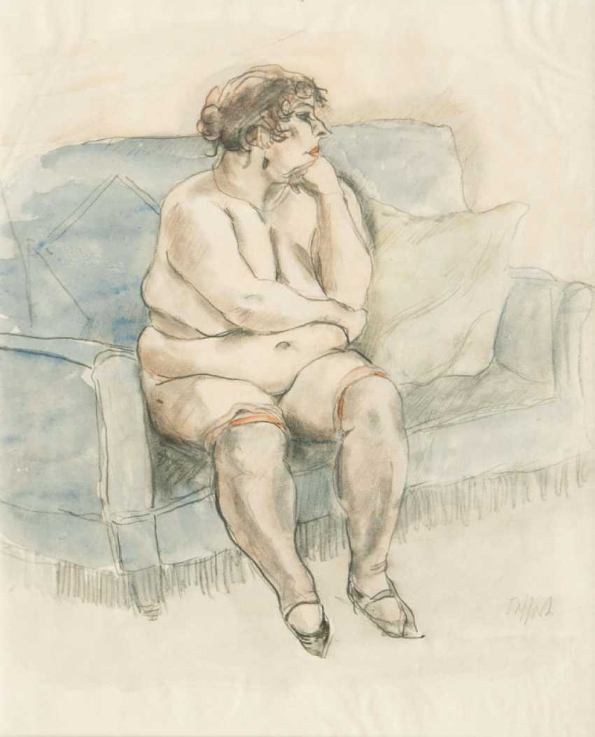 Nude on the Sofa. Georg Tappert - photo 1