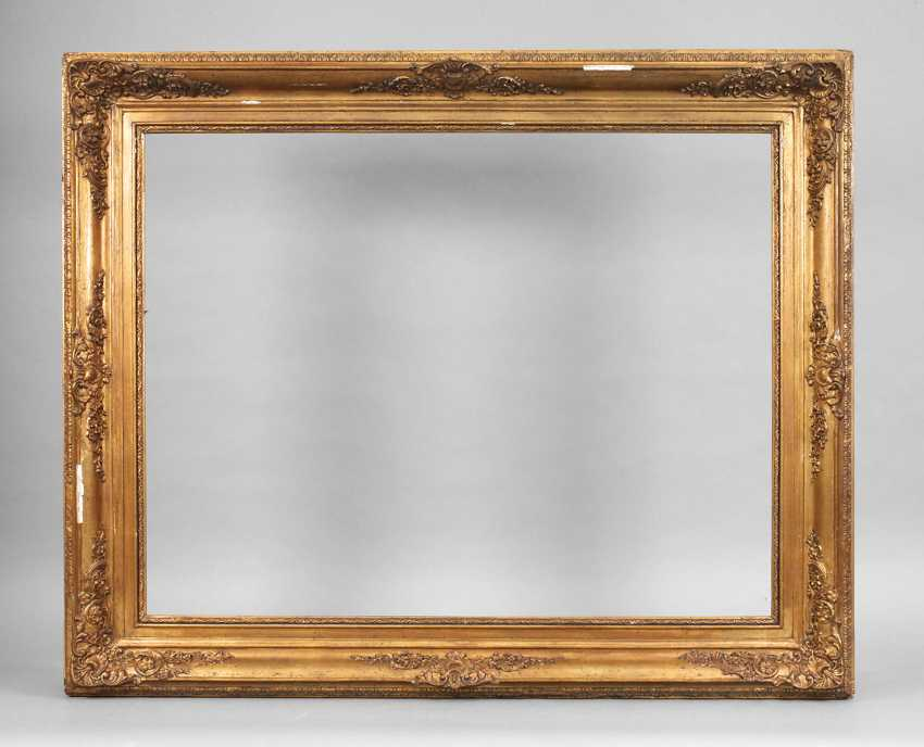 Large gold stucco frame in a Baroque style around 1900 - lot 4713