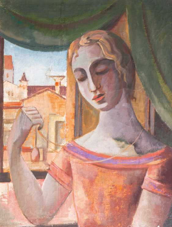 Woman with amulet by the window. César Klein - photo 1