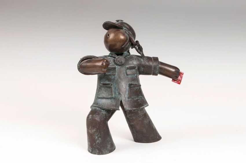 Bronze-Skulptur 'Red Guard'/'Going Forward'. Jiang Shuo - photo 1