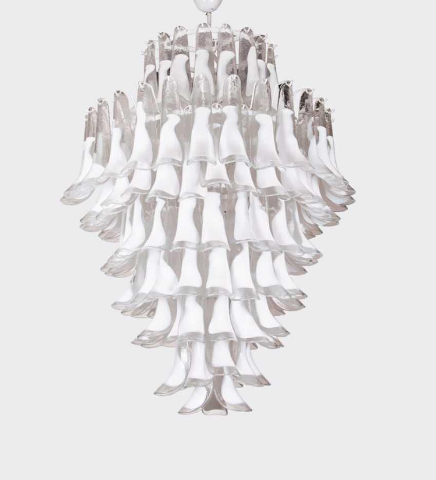 Impressive Mazzega Murano Ceiling Chandelier. - photo 1