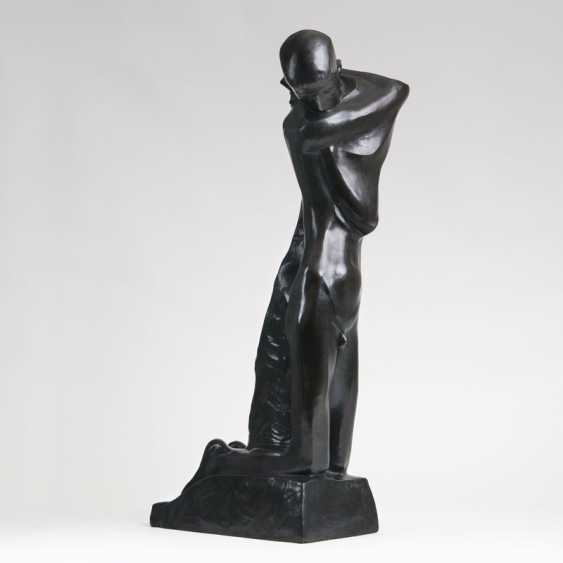 Aptc Bronze Sculpture 'Le Grand Agenouille' (Kneeling Youngling). George Minesweeper - photo 1