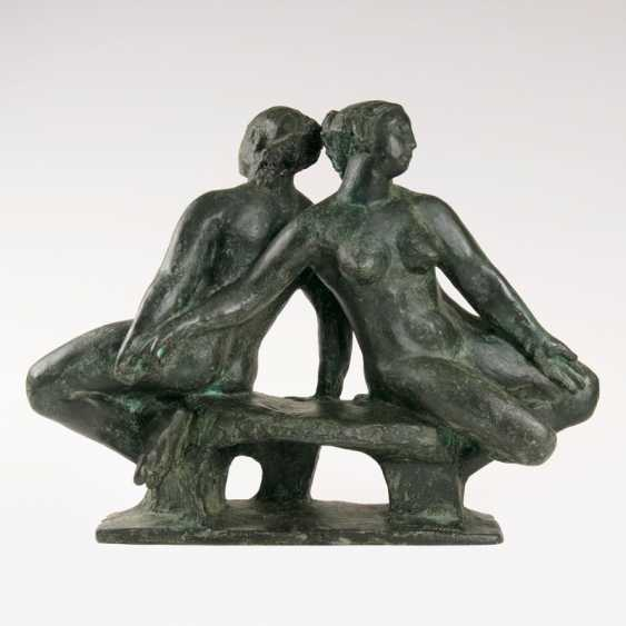 Bronze sculpture group, 'The two sisters'. Klaus Schwabe - photo 1