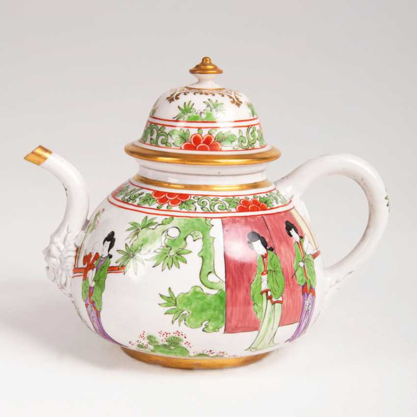 Very rare early Meissen, K. P. M - teapot with Chinese scenes. - photo 1