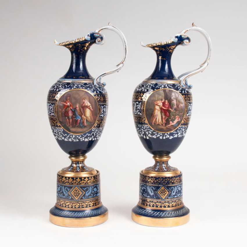 Large pair of magnificent jugs in the Viennese manner. - photo 2