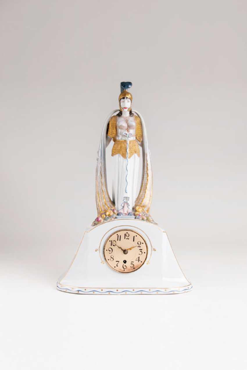 Meissen Art Nouveau Pendule 'Pallas Athena'. - photo 1