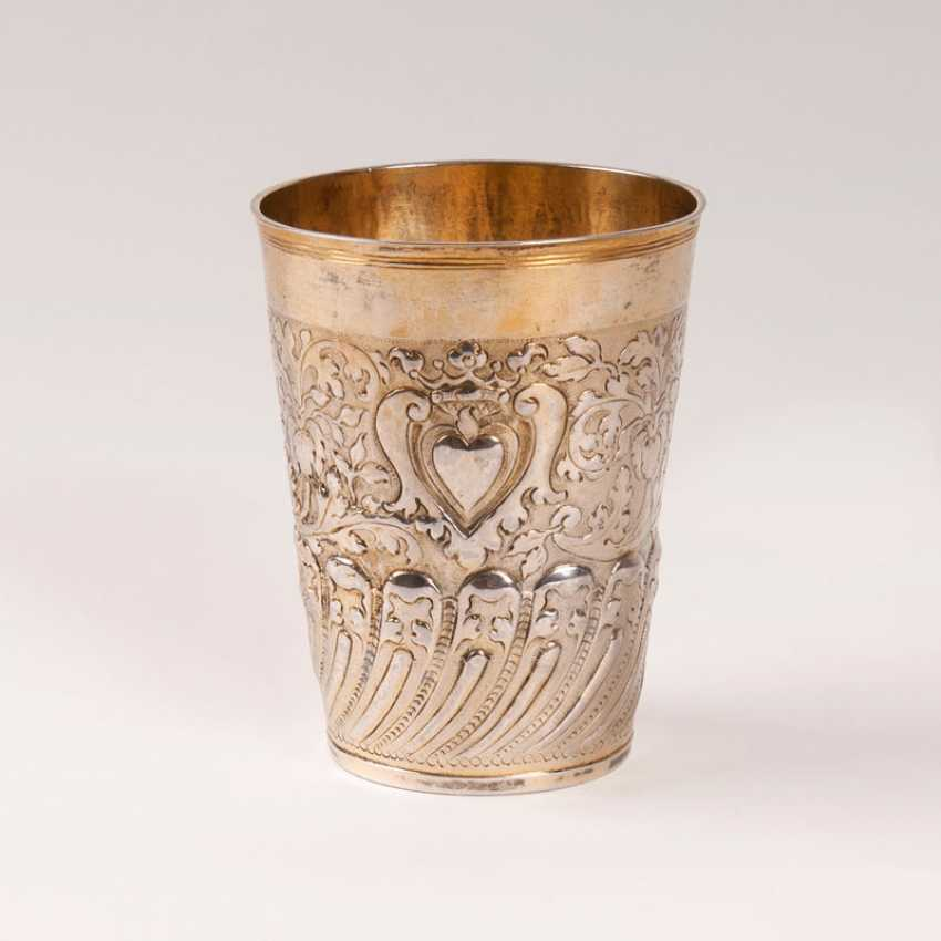 Silesian Baroque Cup with heart decor. Gottfried Kittel - photo 1
