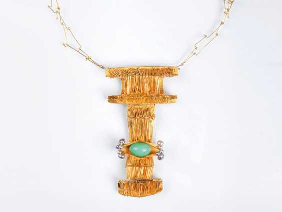 Exceptional Chrysoprase Bead Necklace. - photo 1