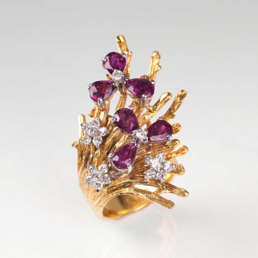 Vintage Rubin-Brillant-Ring. - photo 1