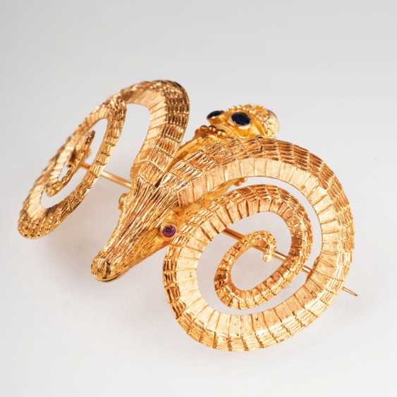 Rare, large brooch in the Greek style 'RAM's head'. Ilias Lalaounis - photo 1