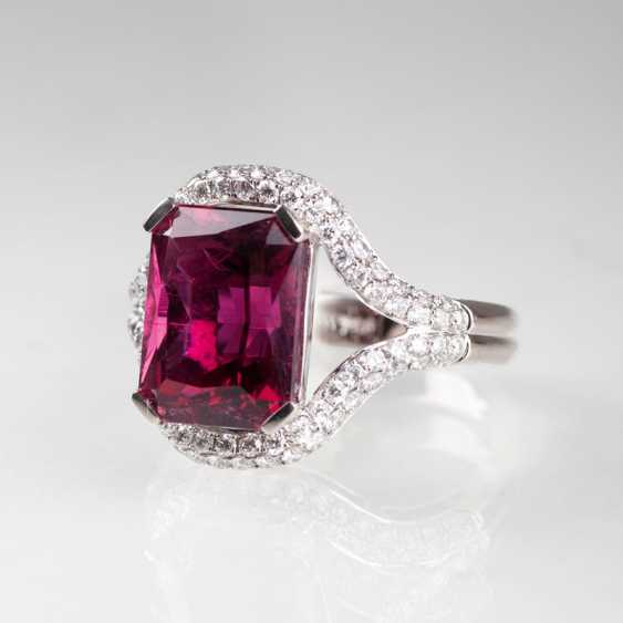 Eleganter Rosa-Turmalin-Brillant-Ring. - photo 1