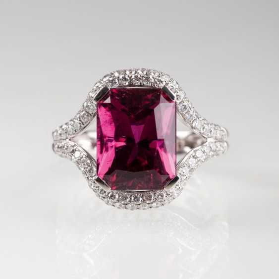 Eleganter Rosa-Turmalin-Brillant-Ring. - photo 2