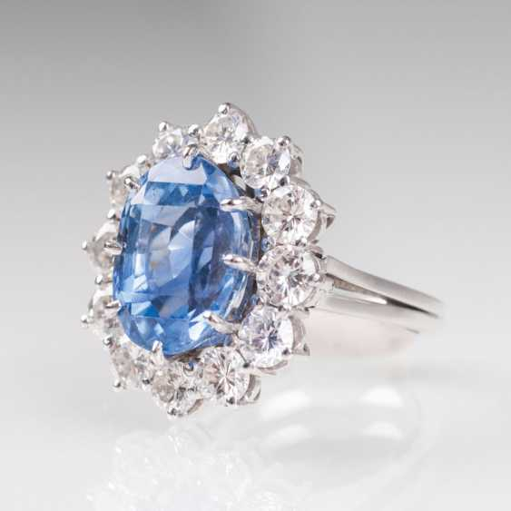 Saphir-Brillant-Ring. - photo 2