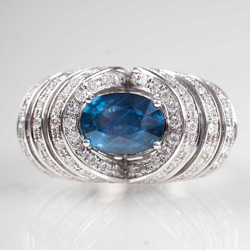 Moderner Saphir-Brillant-Ring. - photo 1