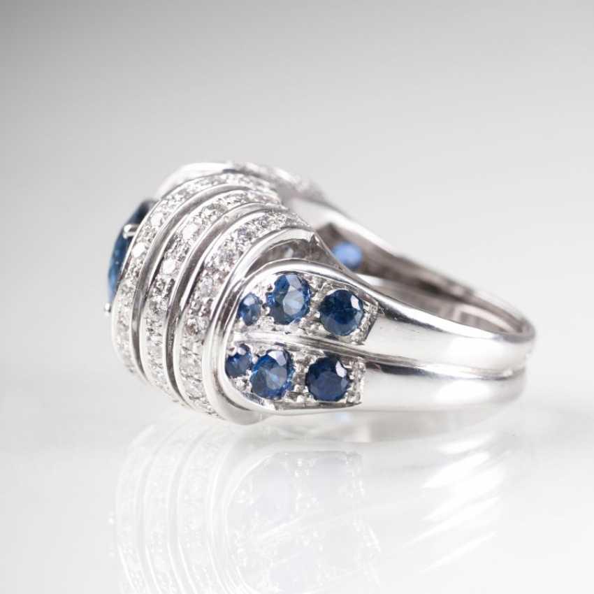 Moderner Saphir-Brillant-Ring. - photo 2