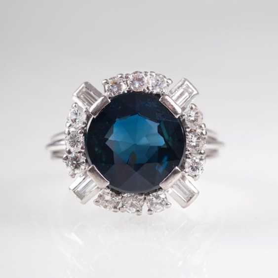Saphir-Brillant-Ring. - photo 1