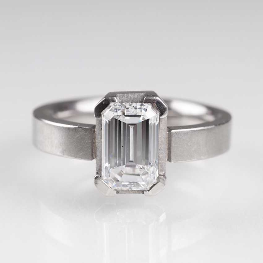 High-fine white solitaire Ring. - photo 1