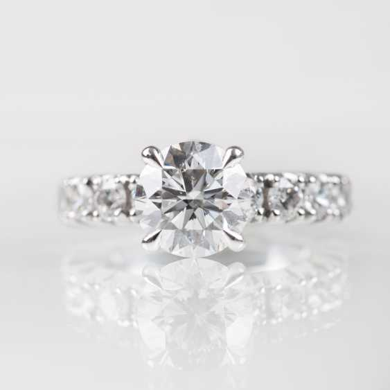 High-profile solitaire diamond Ring by Bucherer. - photo 1