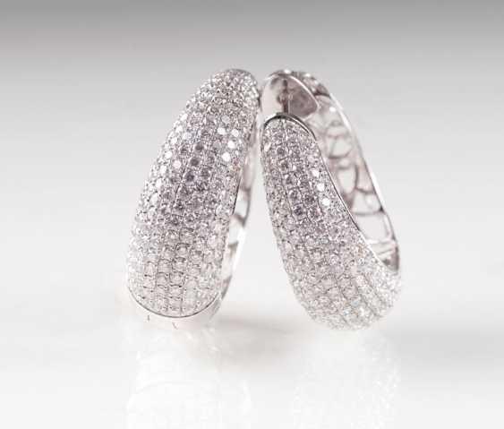 Couple of top-class brilliant Hoop earrings. - photo 1
