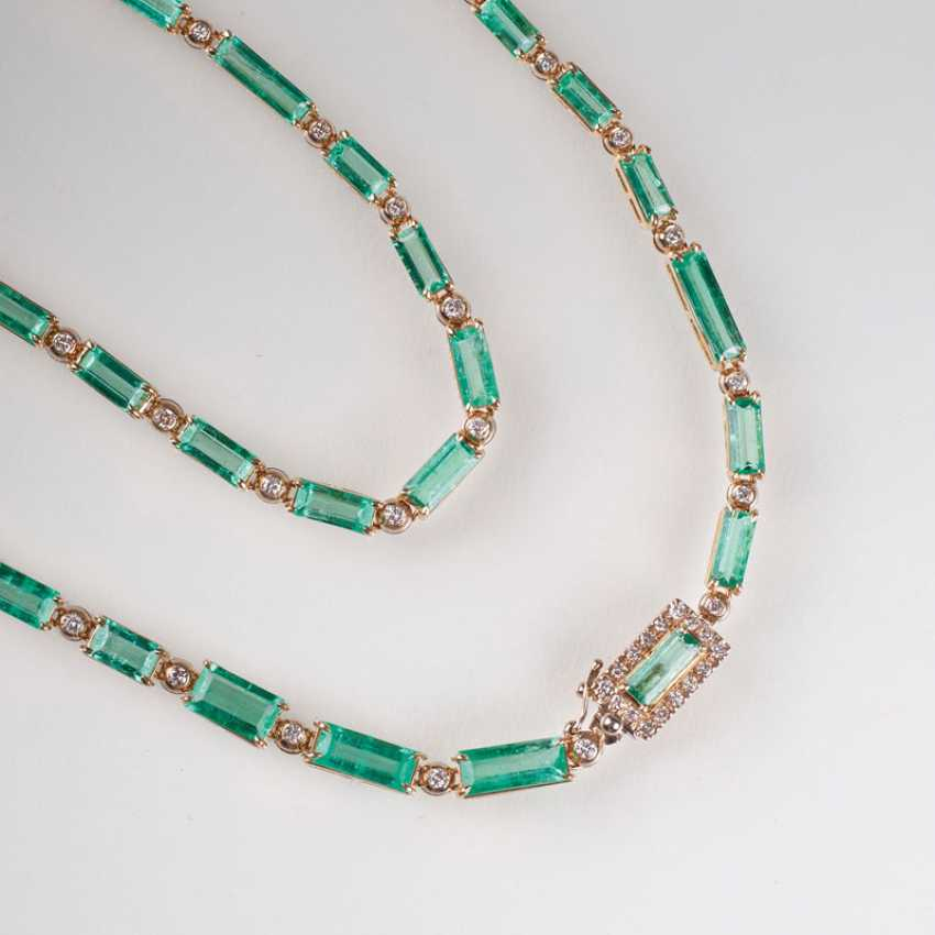 High-Carat Emerald-Brillant-Collier. - photo 1