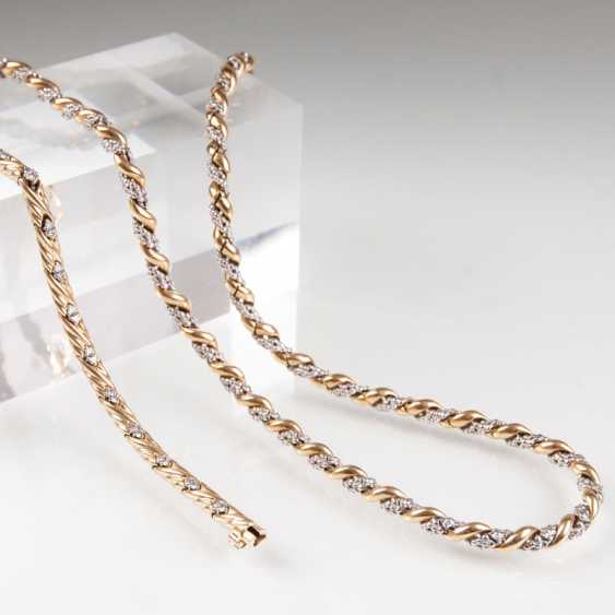 Gold-Collier und Brillant-Gold-Armband. - photo 1