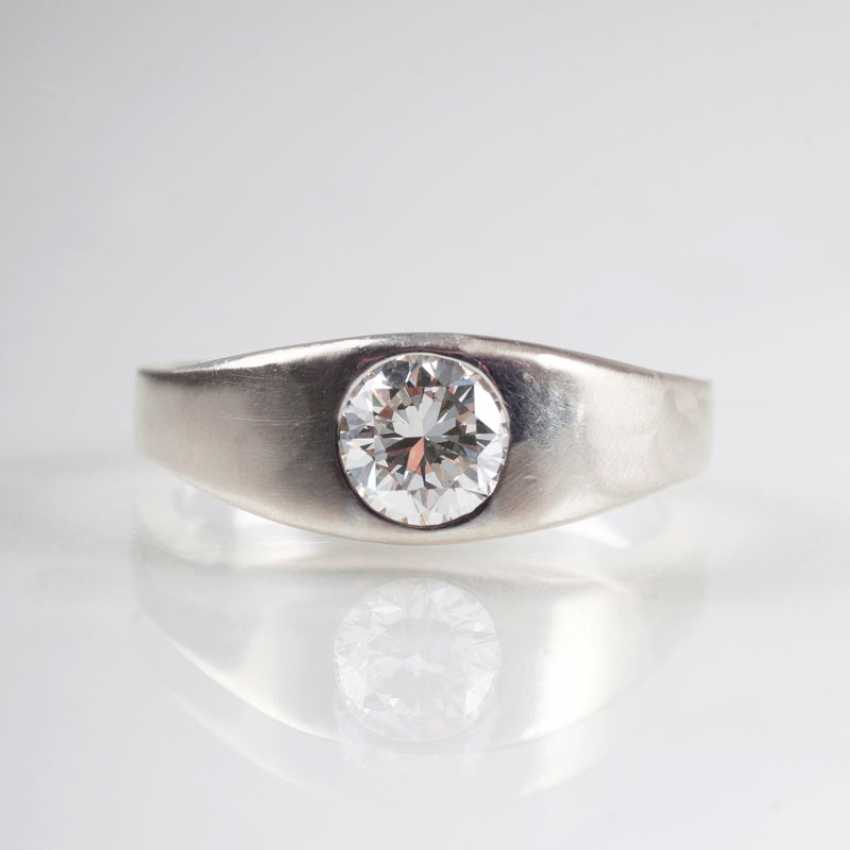 High-Quality Solitaire Band Ring. - photo 1