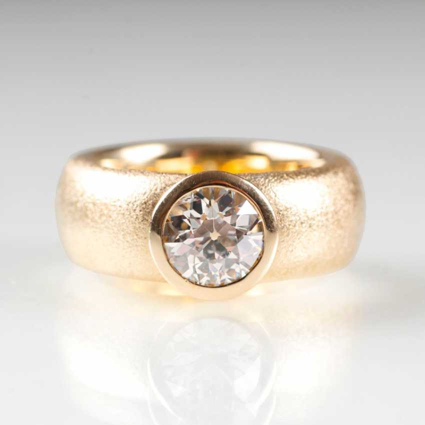 Solitaire Band Ring. - photo 1