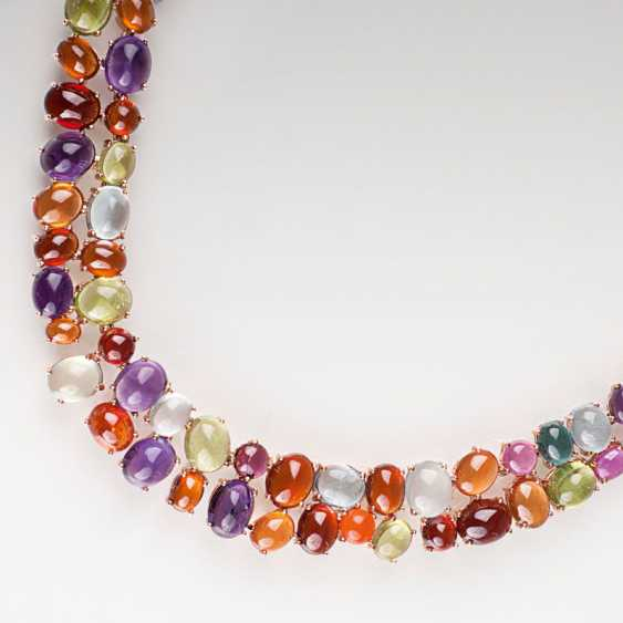 High-quality, modern necklace with rich color stone trim. - photo 1