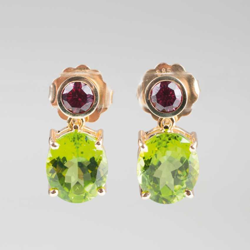 Few Rodolith-Peridot-Earrings. - photo 1