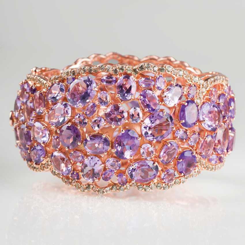 Great, exceptional Amethyst-Peridot-bracelet. - photo 1