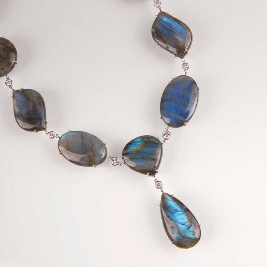 Extraordinary necklace with a variety of labradorite, and brilliant trim. - photo 1