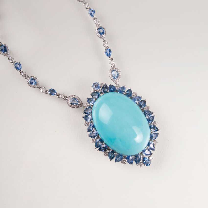 Extraordinary Turquoise-And-Sapphire-Brillant-Collier. - photo 1
