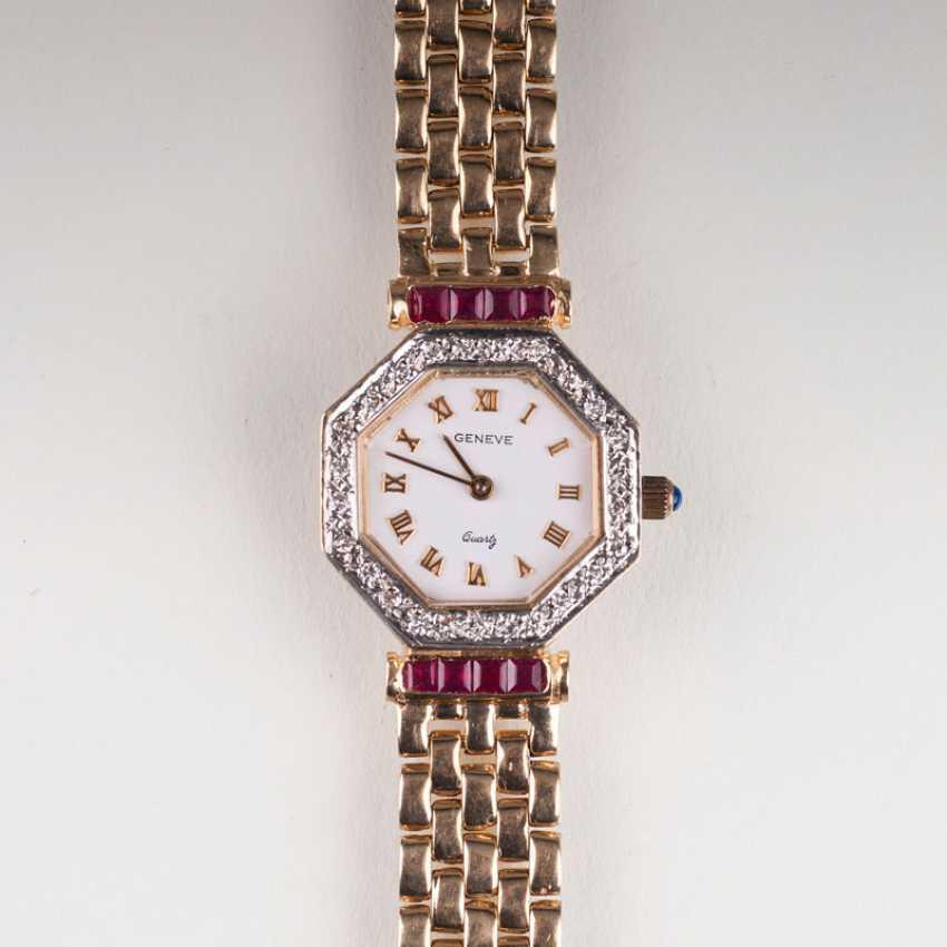 Ladies wrist watch with diamonds Geneve. - photo 1