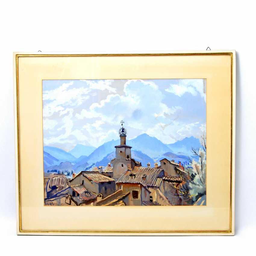 "SEREBRJAKOWA, SINAIDA JEWGENEWNA (Neskutschnoje bei Kharkov Paris 1884-1967), ""Castellano im Trentino"", - photo 2"