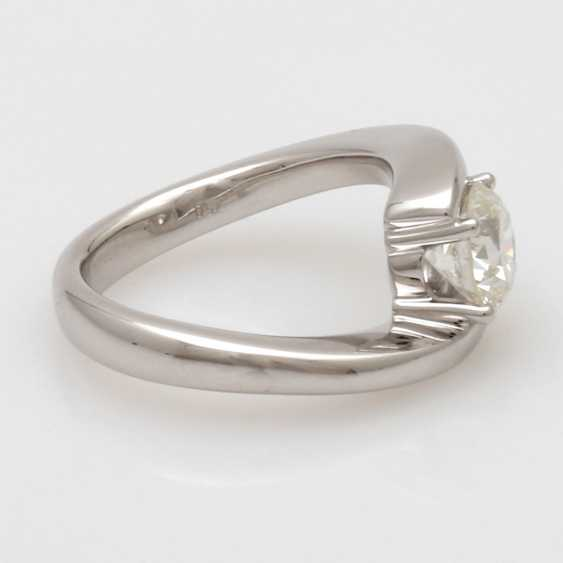 """Ladies Ring 18 K White Gold """"Solitaire"""" - photo 3"""