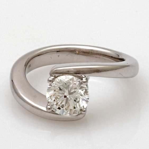 """Ladies Ring 18 K White Gold """"Solitaire"""" - photo 1"""