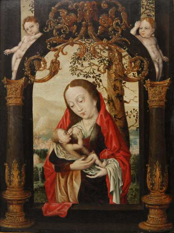 The virgin nursing the child. FLEMISH MASTERS, probably in BRUSSELS around 1530 - photo 1