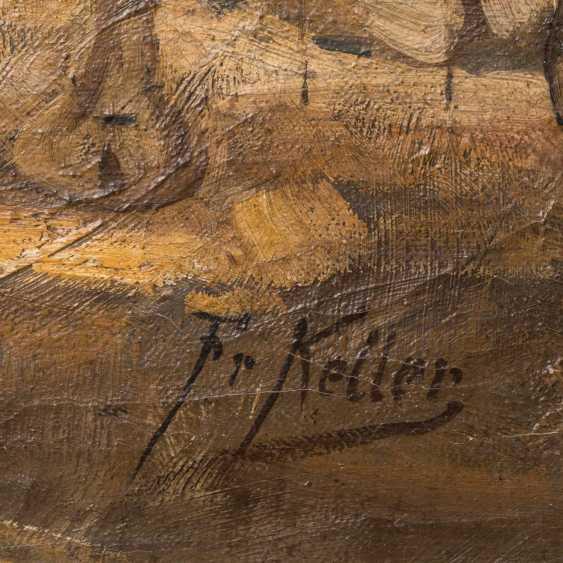 """KELLER, FRIEDRICH VON (Neckarweihingen 1840-1914 Abstgmünd, Prof.), """"camel rider on the water at Bethlehem,"""" - photo 3"""