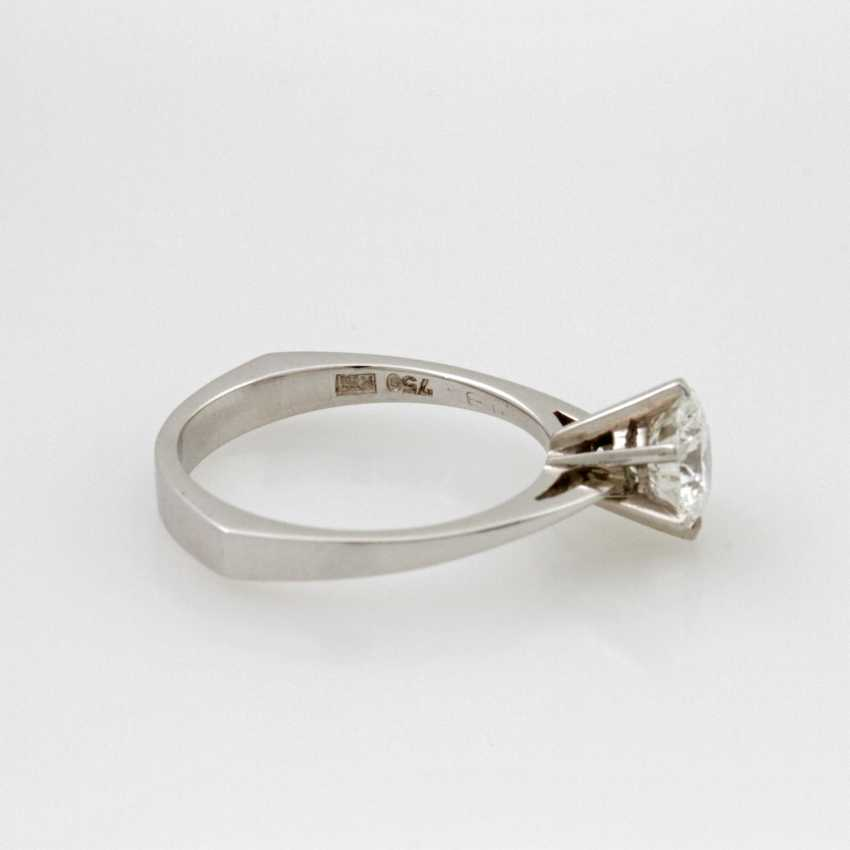 Women's Ring Solitaire White Gold 18 K. - photo 5