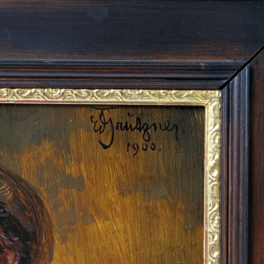 """GRÜTZNER, EDUARD VON (big karlowitz 1846-1925 Munich, hunting and genre painter), """"Tyrolean forest guardians"""" - photo 6"""