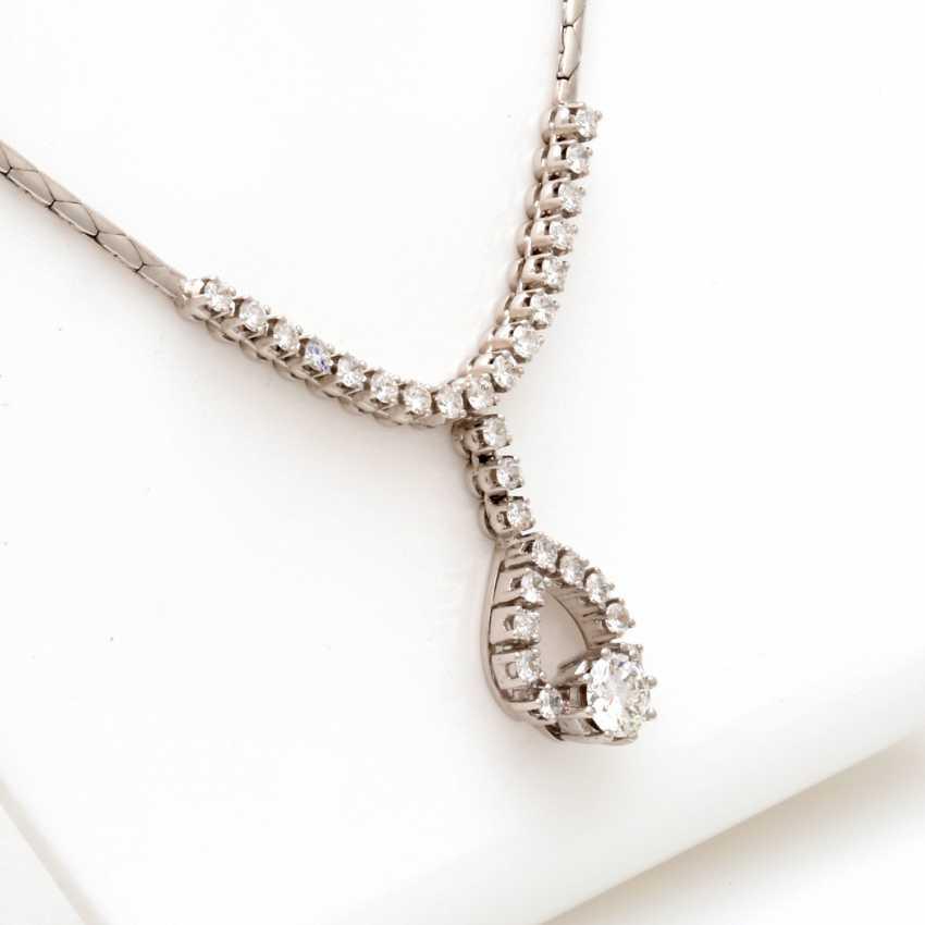 Necklace White Gold 14 K - photo 3