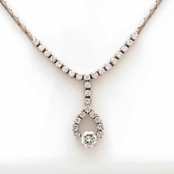 Necklace White Gold 14 K - photo 4