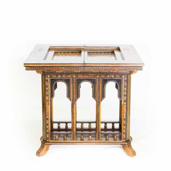 ORIENTAL GAME TABLE WITH TWO CHAIRS - photo 3